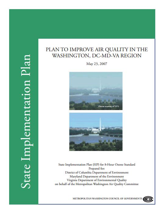 8hourPlantoImproveAirQualityintheWashingtonDCMDVARegion