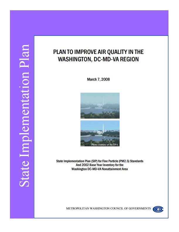 PlantoImproveAirQualityintheWashingtonDCMDVARegion