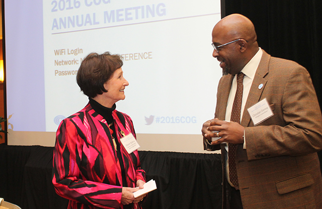 Sharon Bulova and Christian Dorsey at Annual Meeting