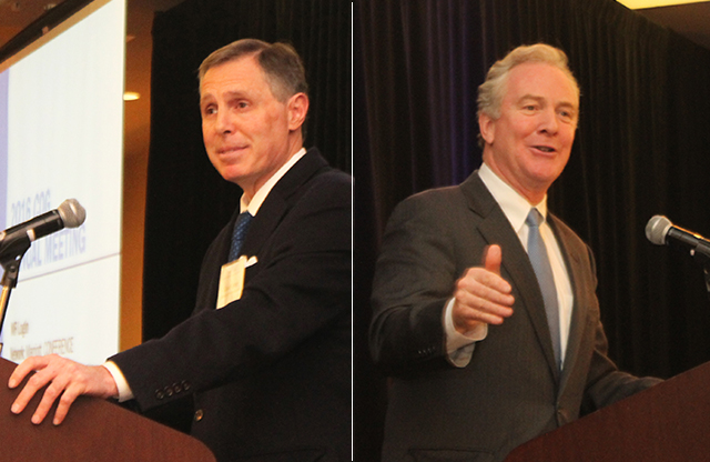 David Tarter and Chris Van Hollen at the Annual Meeting