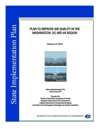 PlantoImproveAirQualityintheWashingtonDCMDVARegion2004