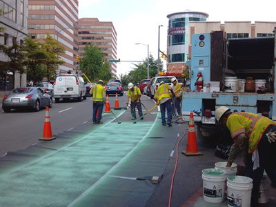 Bike Lane Construction in Arlington