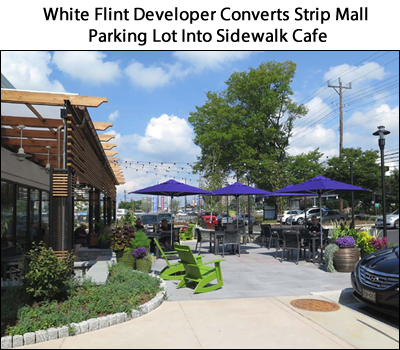 Developer Converts Strip Mall Parking Lot in White Flint Into Sidewalk Cafe